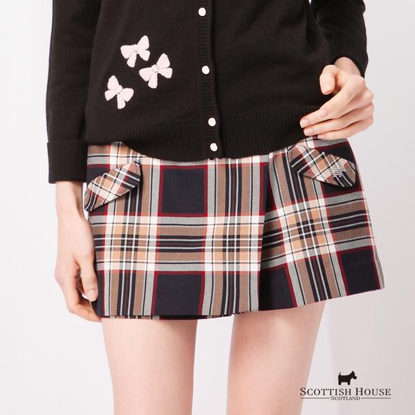 前口袋造型格紋短褲 Scottish House【AD2207】