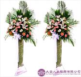【大堂人本】精緻花籃 鮮花 告別式 喪禮 追思 安息 高架 藝術 台北 弔唁 恩召