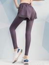 熱賣假兩件運動褲假兩件健身長褲女夏季跑步訓練透氣運動褲高腰顯瘦彈力緊身瑜伽褲  coco