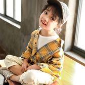 女童開衫外套中小兒童韓版洋氣長袖襯衫女寶寶上衣潮  沸點奇跡