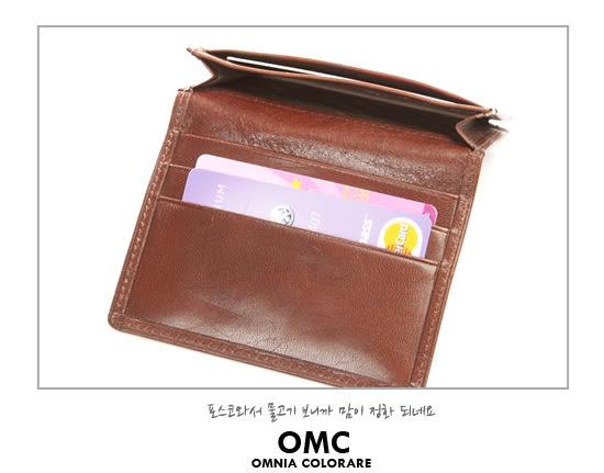 OMC - 原皮魅力真皮款簡約式名片夾