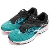 美津濃 Mizuno Wave Shadow 2 綠 黑 二代 運動鞋 雲波浪 慢跑鞋 女鞋【PUMP306】 J1GD1830-01