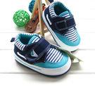 氣質條紋 休閒鞋 3(鞋內長12CM) 寶寶嬰兒鞋 防滑軟膠底學步鞋.童鞋 橘魔法 Baby magic 現貨