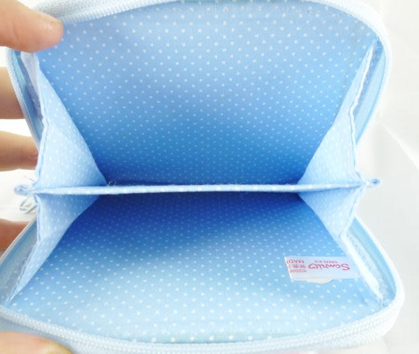 【震撼精品百貨】Mashumaro 棉花糖貓~零錢包『淺藍白點』