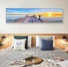 壁畫 地中海風格裝飾畫臥室床頭畫沙發背景牆畫客廳掛畫海景畫酒店壁畫完美