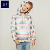 Gap女嬰幼童 印花針織襯裡外套 402686-彩色條紋