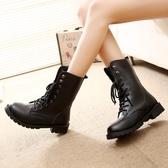 馬丁靴女英倫風學生韓版百搭原宿工裝短靴春秋新款夏季機車靴 9號潮人館