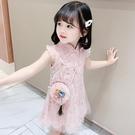 一三歲女寶寶夏裝女孩連衣裙洋氣小童漢服夏旗袍公主夏季女童裙子