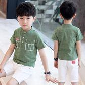 童裝男童夏裝T恤短袖2018新款兒童中大童韓版條紋小孩 HH2171【潘小丫女鞋】