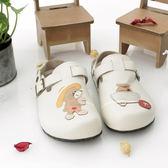 【Jingle】小熊尋寶記前包後空軟木鞋(米色大人款)