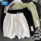 大碼短褲男休閒居家冰絲空調褲夏季沙灘褲胖子五分褲【左岸男裝】