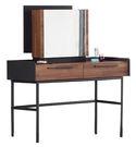 【森可家居】畢卡索4尺雙色二抽鏡台 7JF027-2 梳化妝台 木紋質感 工業風