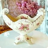 HONEY COMB 象牙瓷高腳雙勾玫瑰器皿 NA39