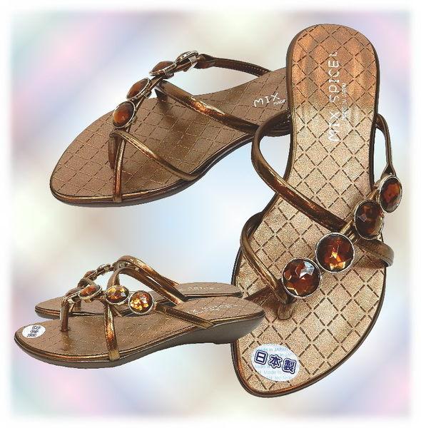 【波克貓哈日網】超舒適夾腳鞋◇低跟涼鞋◇《棕色寶石》~日本製
