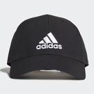 ADIDAS BBALLCAP LT EMB 帽子 老帽 休閒 基本款 黑【運動世界】GM4509