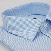 【金‧安德森】小圖藍色窄版短袖襯衫