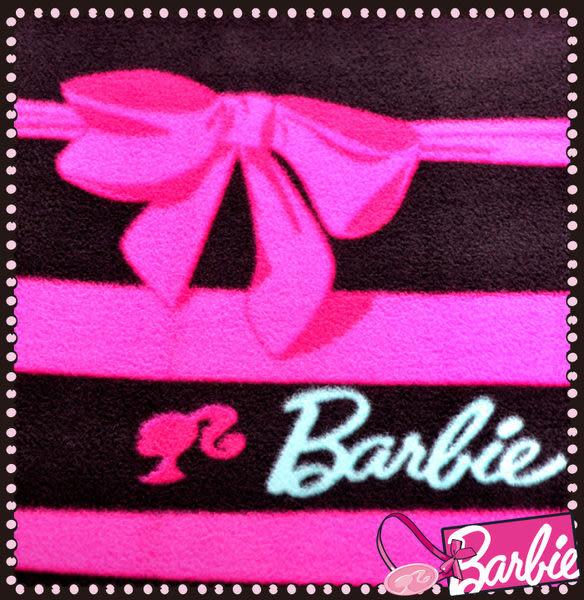 【Barbie】蝴蝶結物語-雪芙絨雙人床包三件組《Ribbon Bow《星空黑》》