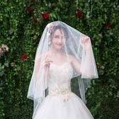 新娘頭紗簡約珍珠頭飾