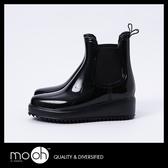 歐美英倫切爾西靴雨鞋 厚底鬆緊套腳馬丁靴短筒雨鞋雨靴 mo.oh (歐美鞋款)