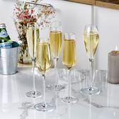 歐式水晶香檳杯紅酒杯家用起泡酒杯玻璃氣泡高腳杯雞尾酒杯洋酒杯 店家有好貨yi