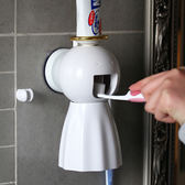 洗漱套裝創意全自動擠牙膏器天使環 懶人牙刷架漱口杯牙膏擠 蓓娜衣都