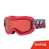 法國 Bolle VOLT 兒童款 雙層鏡片設計 防霧雪鏡 紅塗鴉/朱紅 #21585