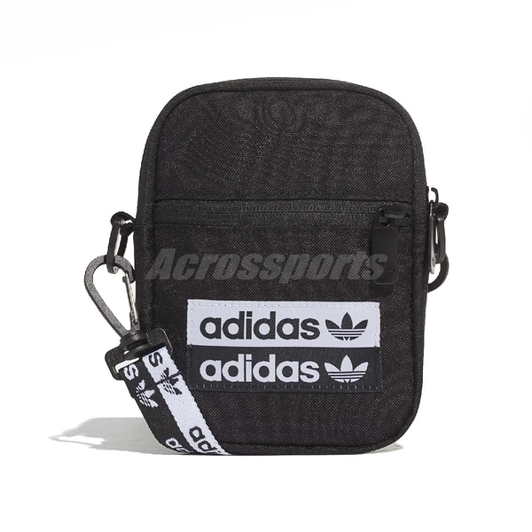 adidas 斜背包 Festival Bag 黑 白 男女款 包包 運動休閒 【ACS】 EJ0975