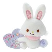 小禮堂 許願兔 迷你絨毛玩偶 玩偶萬用夾 夾式玩偶 娃娃夾子 (白 2021角色大賞) 4550337-60986