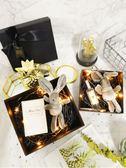禮物盒-禮盒 ins口紅包裝盒生日禮物盒子精美 韓版簡約大號伴手禮物盒空  提拉米蘇