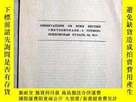 二手書博民逛書店民國1944年外文資料:OBSERVATIONS罕見ON SOM