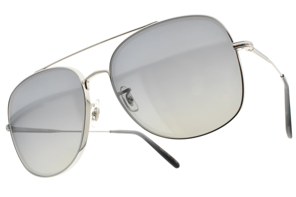 OLIVER PEOPLES 太陽眼鏡 TARON 50366I (槍-漸層藍鏡片) 雙槓 復古 雕花 飛行框 墨鏡 廣告款 # 金橘眼鏡