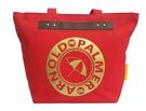 Backbager 背包族【Arnold Palmer雨傘】帆布大LOGO系列 購物袋/托特包/肩背包 紅色