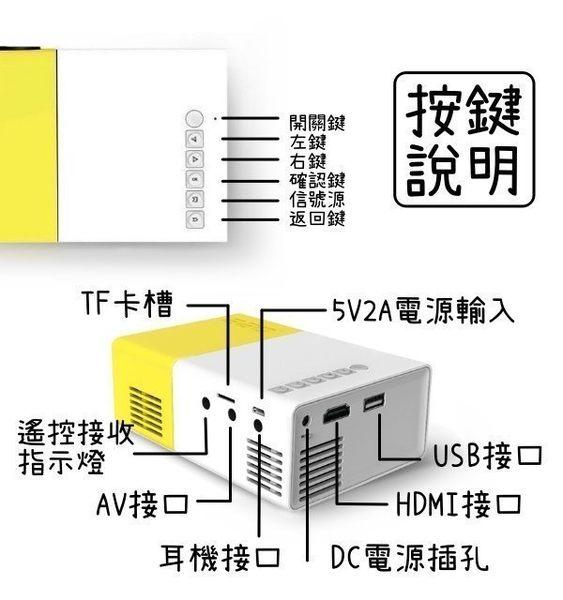 【刀鋒】現貨供應 YG300便攜迷你投影機+HDMI套組 投影器 投屏器 HDMI 看戲神器 微型投影器 攜帶型