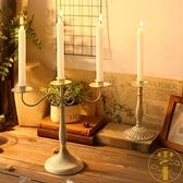 歐式餐廳香薰蠟燭台擺件家居燭光晚餐桌面裝飾道具【雲木雜貨】