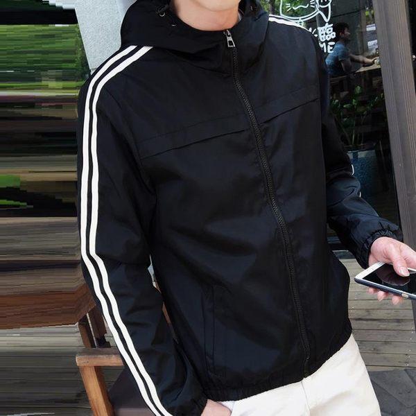 外套男春秋夾克學生百搭休閒青少年修身韓版帥氣運動棒球服潮衣服 9號潮人館