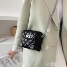 網紅夏天小香風錬條迷你手機包女新款單肩小方包側背包盒子包 電購3C