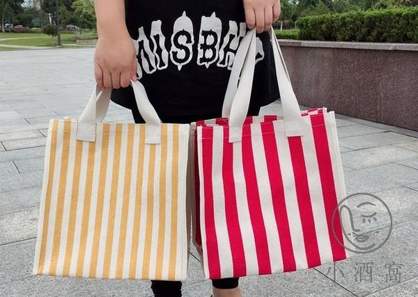 大容量手提包女帆布環保防水便攜買菜包【小酒窩服飾】