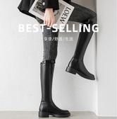 婥蕾真皮不過膝長靴女2020年秋冬新款百搭小個子長筒靴高筒騎士靴