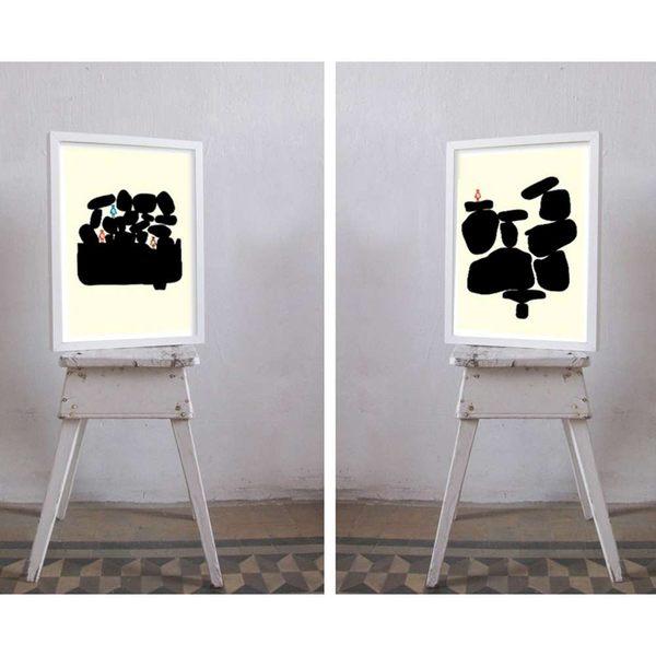 【摩達客】西班牙知名插畫家Judy Kaufmann藝術創作海報掛畫裝飾畫-假期 (附Judy本人簽名)(含木框)