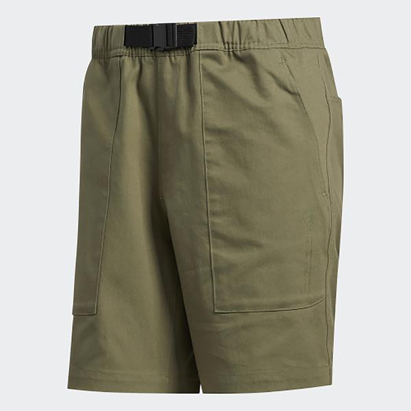 ADIDAS 短褲 軍綠 拉鍊口袋 運動休閒 綠 男 (布魯克林) GJ5102