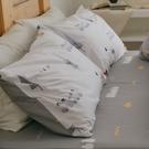 純棉 床包組 加大【小鎮】ikea風格 100% 精梳純棉 翔仔居家