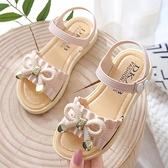 女童涼鞋潮網紅小公主女孩寶寶夏天鞋子女學生涼鞋時尚軟底涼拖鞋 艾瑞斯居家生活
