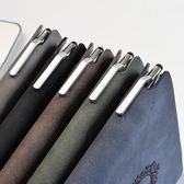 簡約商務筆記本文具本子加厚皮面復古日記本a5辦公記事本 黛尼時尚精品
