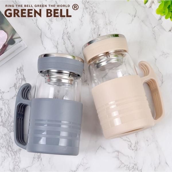 GREEN BELL綠貝沁新辦公玻璃杯480ml 辦公杯 耐熱玻璃 梅森瓶