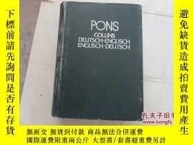 二手書博民逛書店PONS:COLLINS罕見DEUTSCH-ENGLISCH E