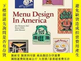 二手書博民逛書店Menu罕見Design In AmericaY256260 Steven Heller Taschen Gm