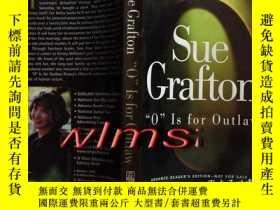 二手書博民逛書店O罕見Is for Outlaw (英文原版)【本攤謝絕代購】Y31024 Sue Grafton 出版1