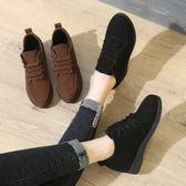 女鞋子韓版百搭單鞋女學生休閒工作中跟內增高小皮鞋 沸點奇跡