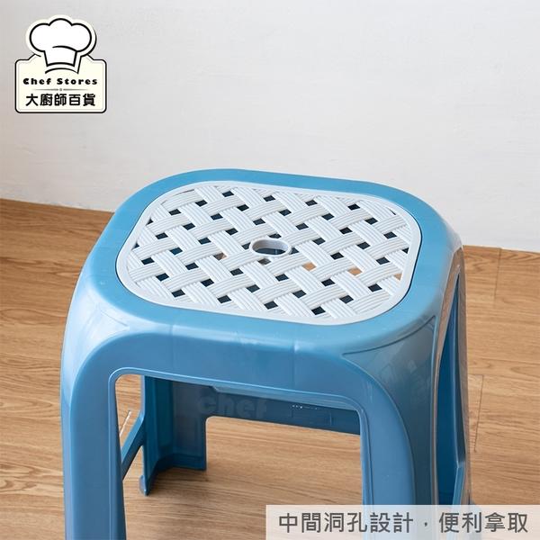 聯府大銀座椅塑膠椅休閒椅四角椅子RC651-大廚師百貨