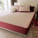 -麗塔LITA- 40支精梳棉 色織布【魔法森林-紅】單人床包枕套二件組